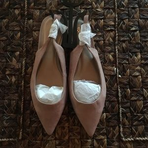 Topshop Ally Slingback Pointed Toe Flats